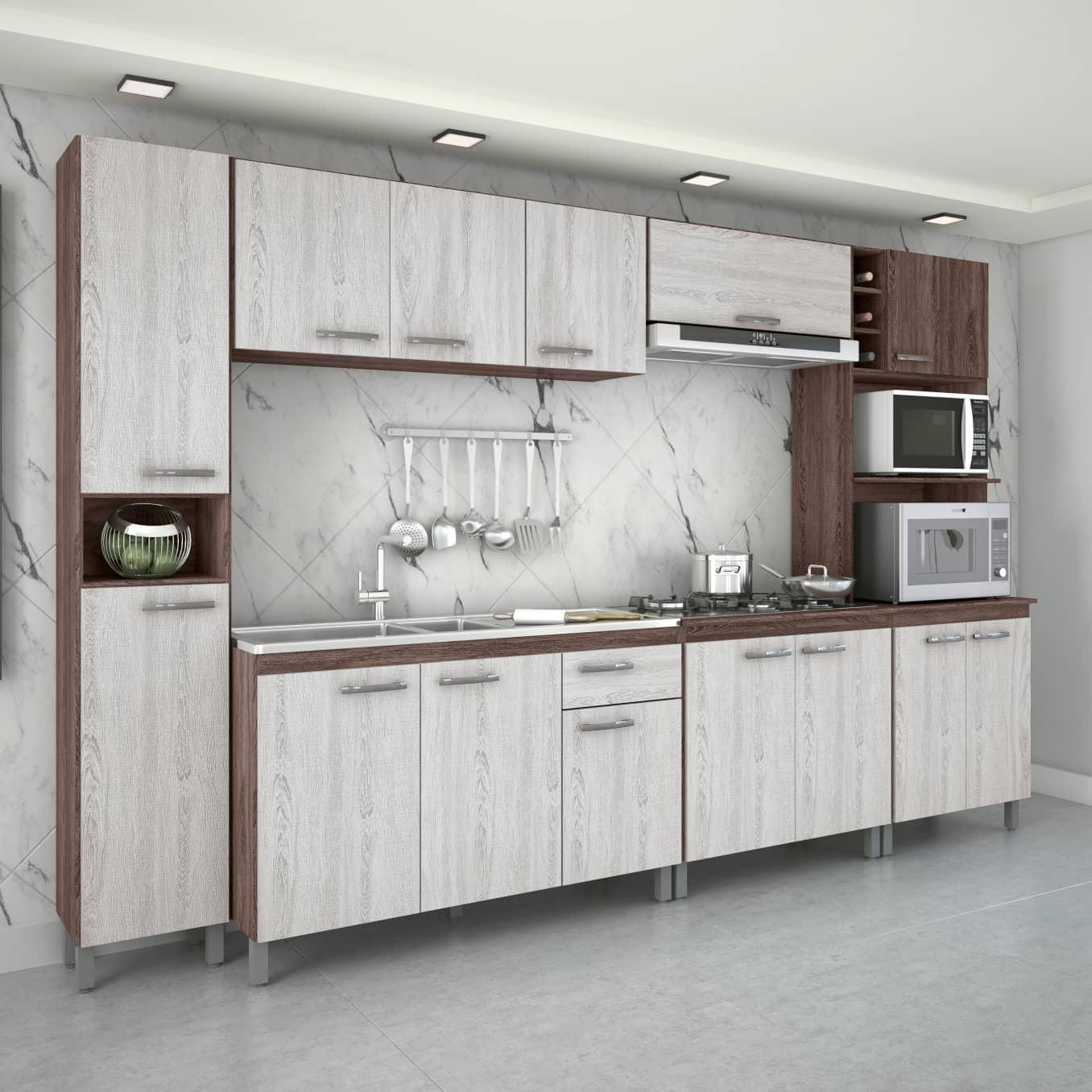 Cozinha Completa 6 Peças com Tampo Atlas