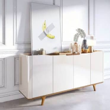 BUFFET ARC COM GAVETAS OFF WHITE/NATURE